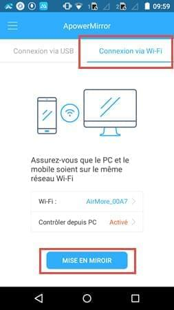 connexion Wi-Fi