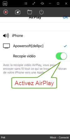 activez AirPlay